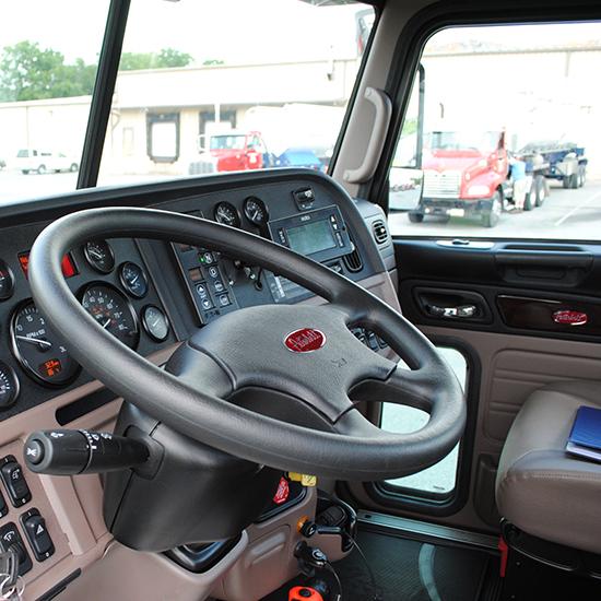 Peterbilt tractor interior